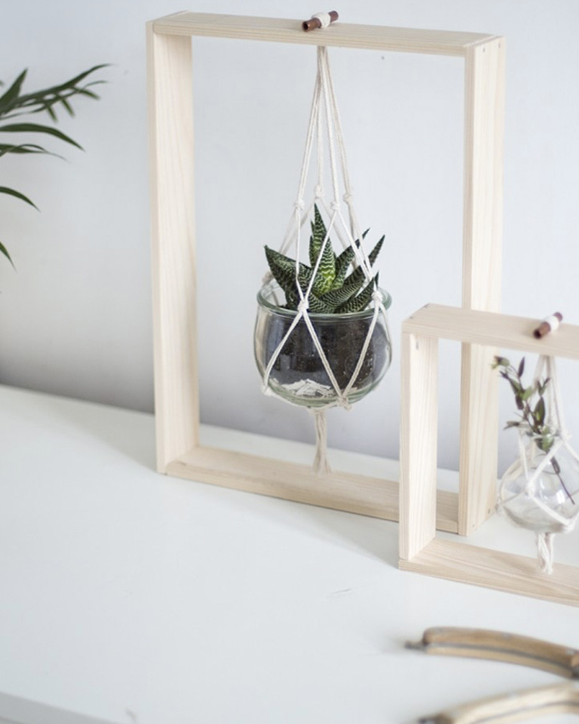 deco macrame suspension plante diy