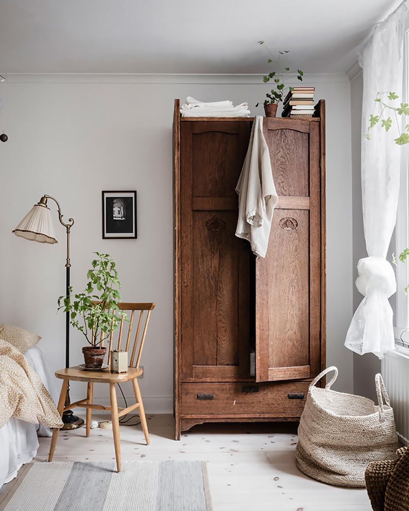 deco rustique moderne chambre armoire rustique