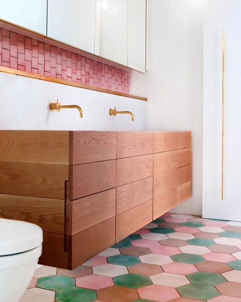 deco sol terre cuite salle de bain couleur