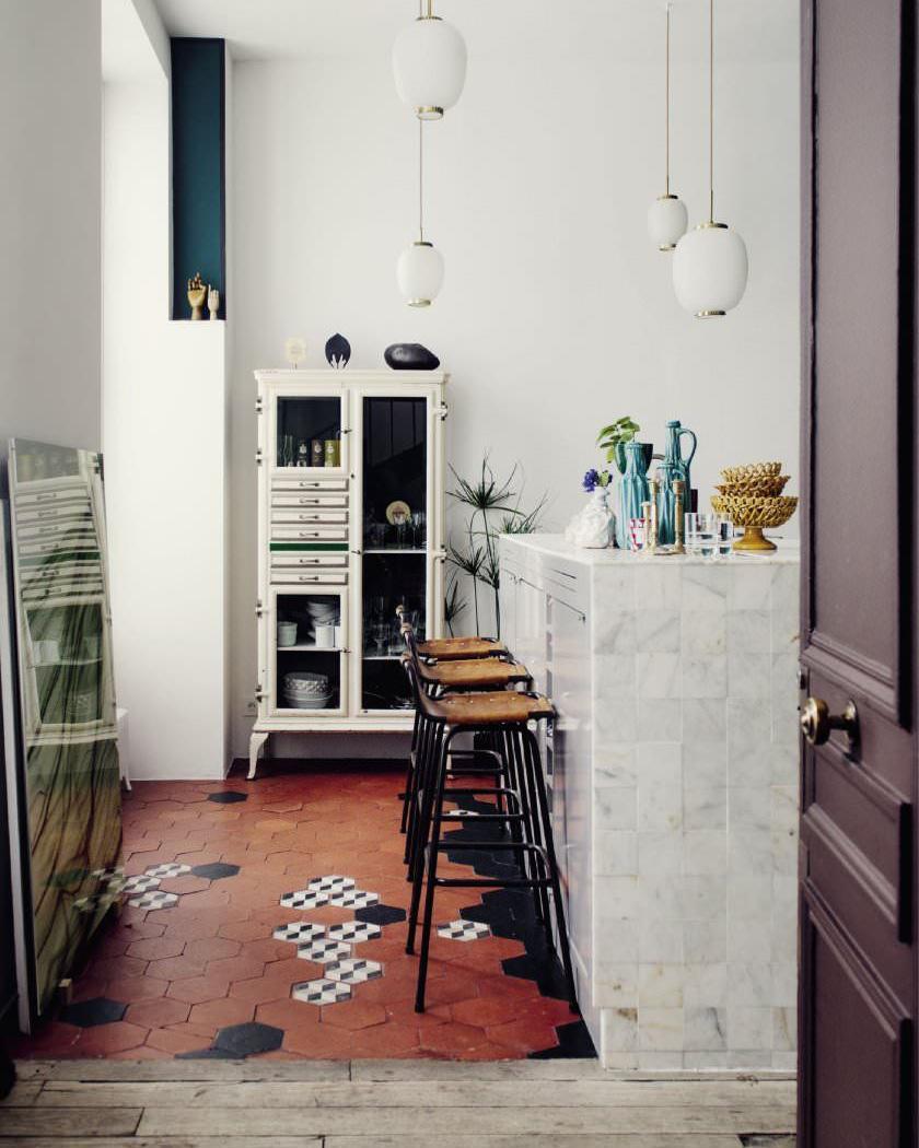 deco sol terre cuite cuisine moderne