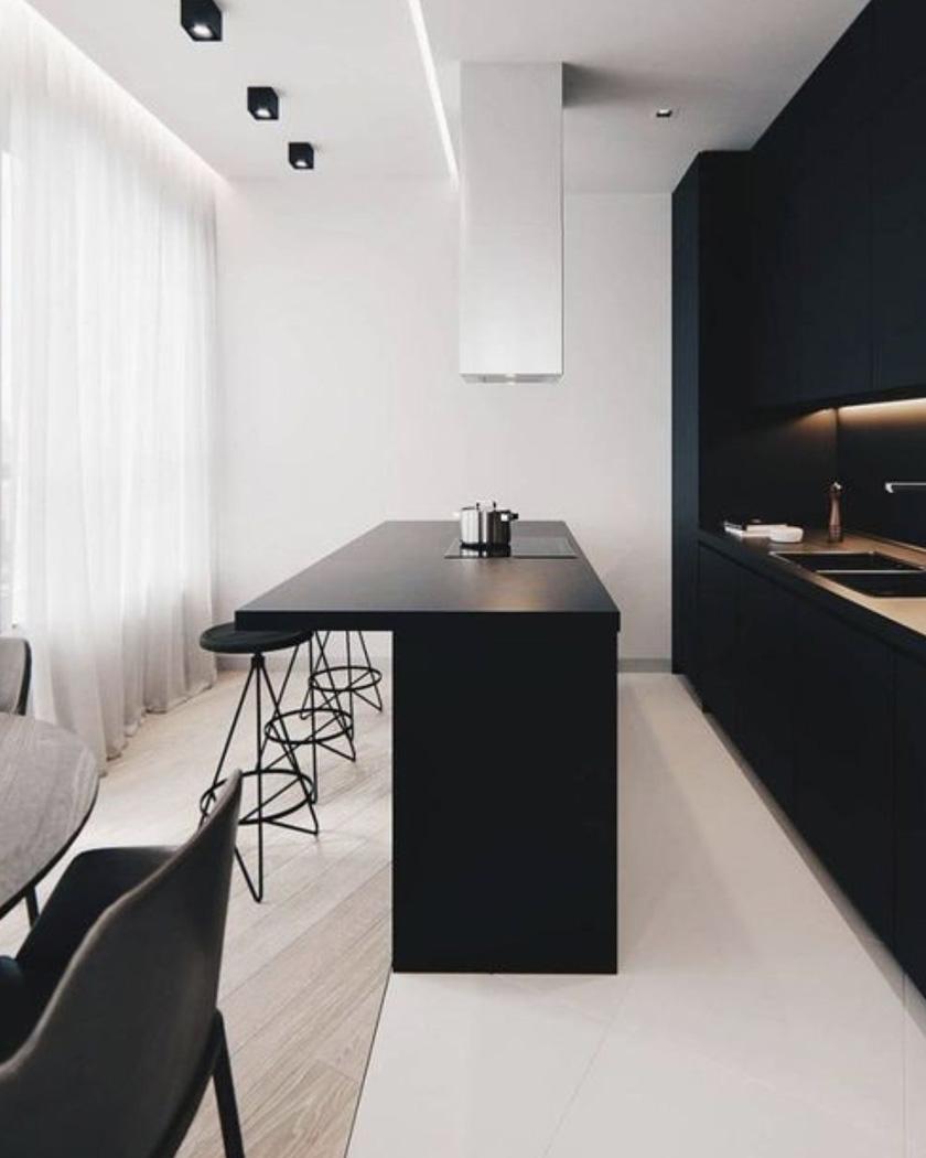 deco noir cuisine moderne