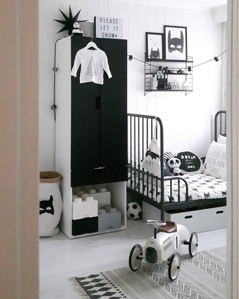 deco noir blanc chambre enfant