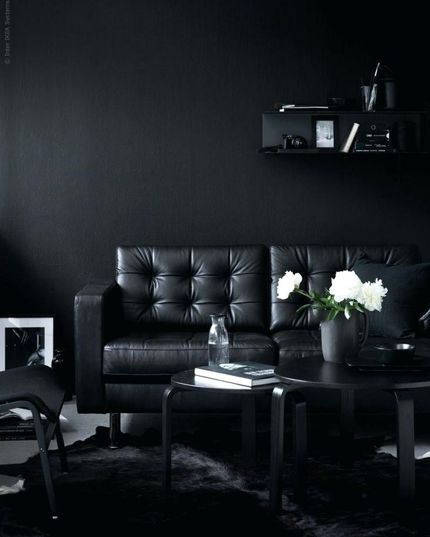 deco noir salon total look ikea
