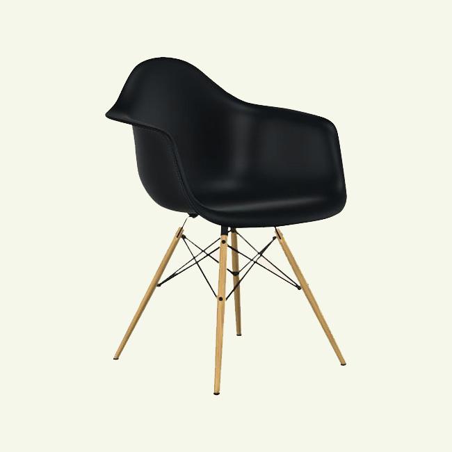 fauteuil daw noir