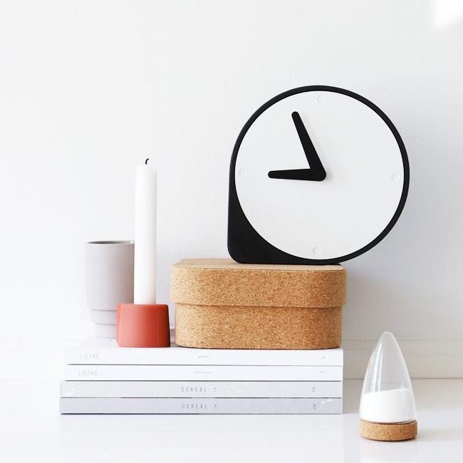 puik design etsy horloge liège noire