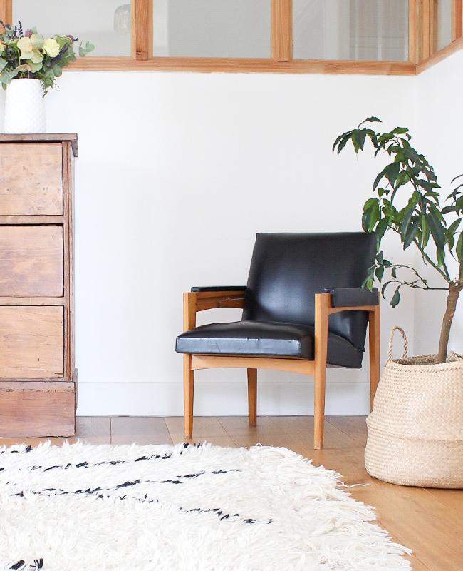 visite deco ysabelle fauteuil vintage noir