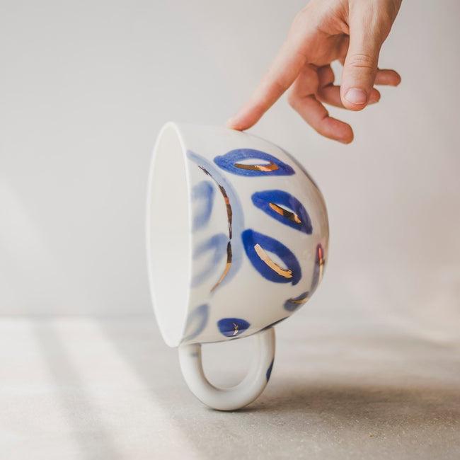 céramique etsy sind studio grande tasse bleue