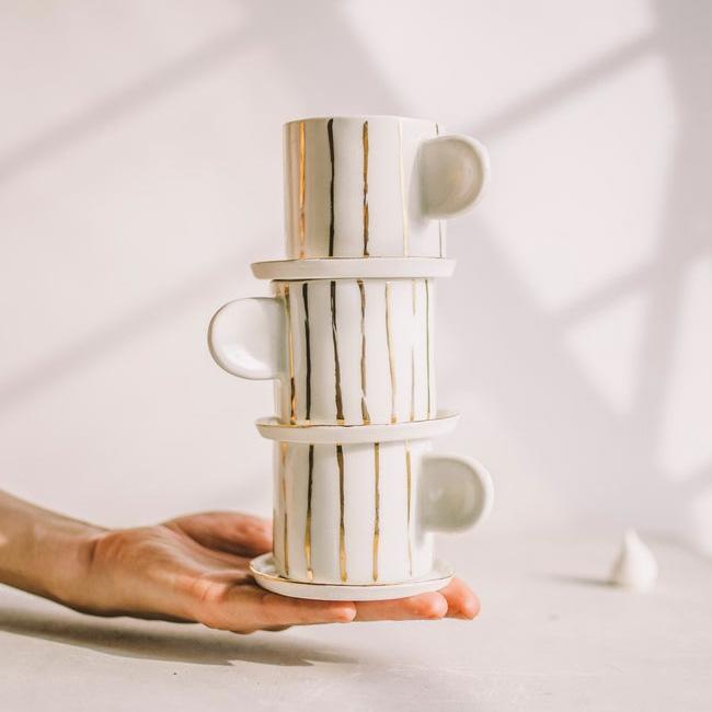 céramique etsy sind studio tasse espresso blanc