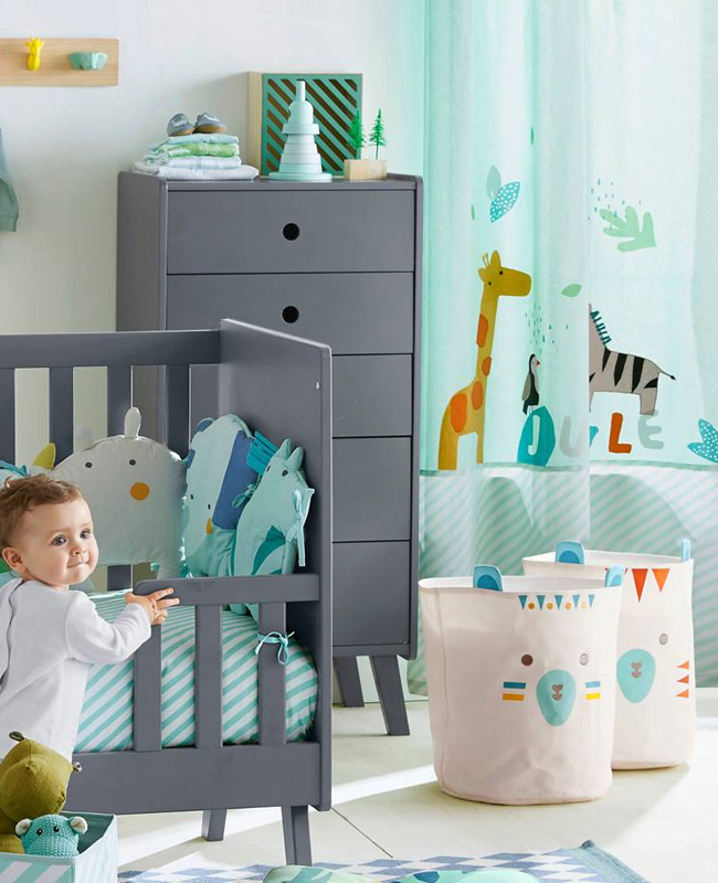 deco enfant jungle rideau