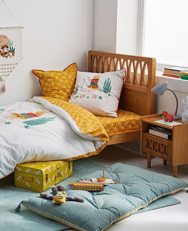 deco lit chambre enfant vintage bois