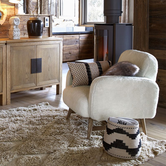 deco salon scandicraft fauteuil mouton