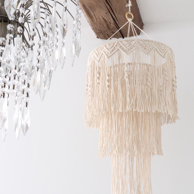 etsy the wild world suspension macramé luminaire
