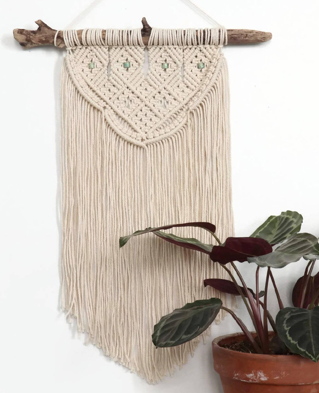 etsy the wild world suspension murale macramé