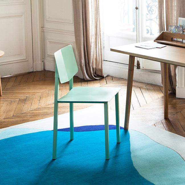petit meuble deco pastel chaise verte