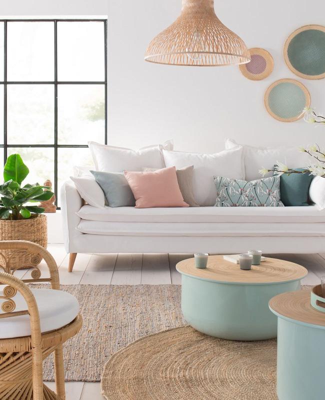petit meuble deco pastel table basse verte