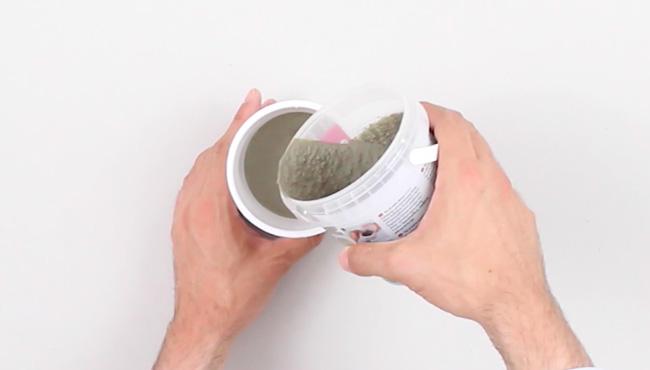 challenge diy pot béton or étape 3