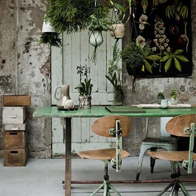 deco bureau urban jungle vintage