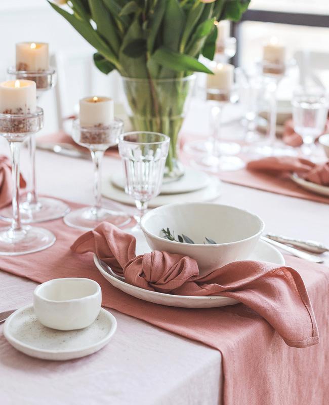 etsy cozy linen nappe lin rose blush