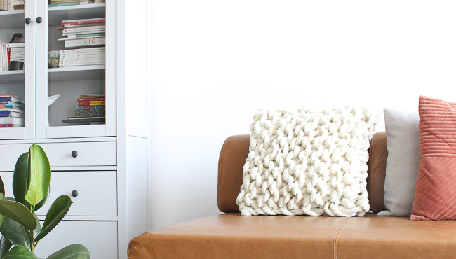coussin laine xxl suuri we are knitters kit tricot