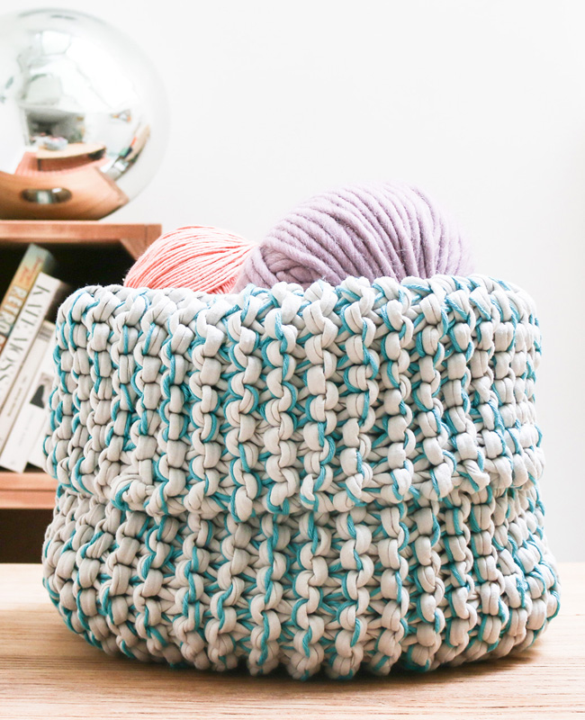 panier bicolore laine we are knitters kit tricot