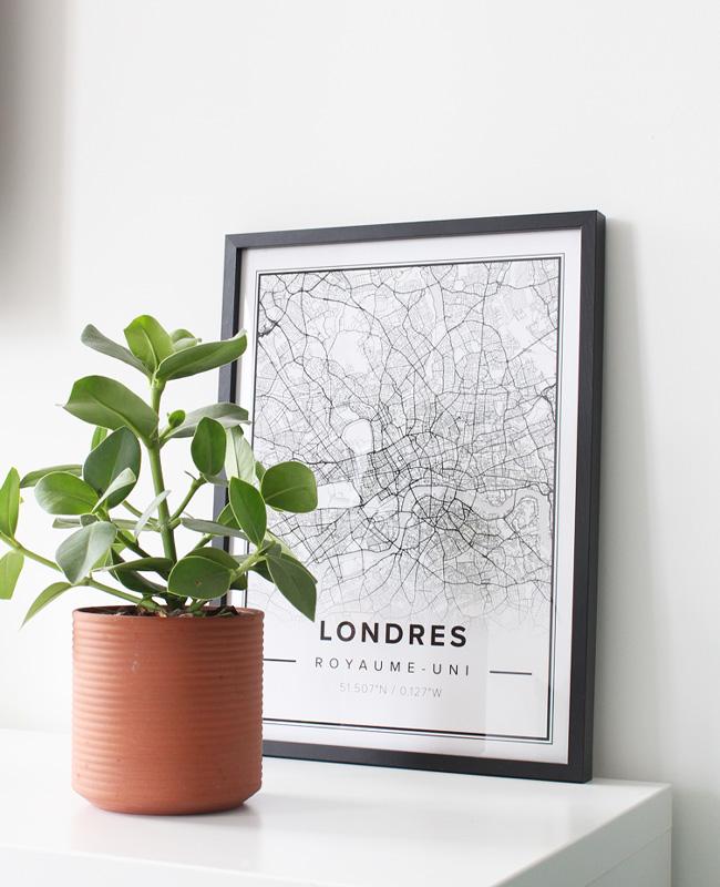 mapiful carte ville déco londres