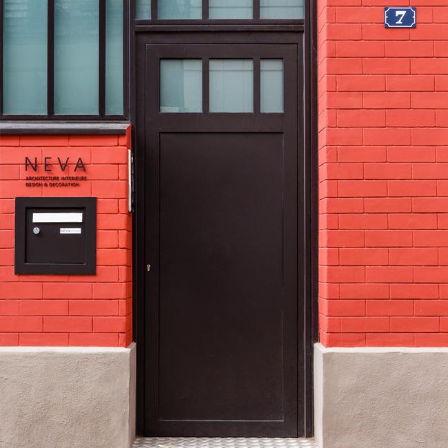 deco bureau professionnel moderne coloré neva porte entrée