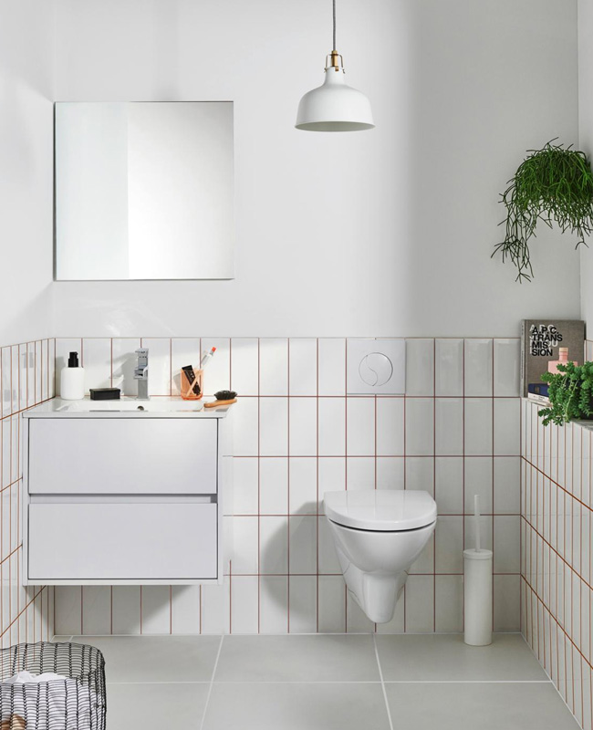 deco salle de bain minimaliste blanc