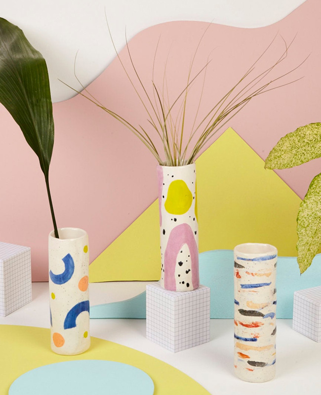 etsy céramique baked by lou vase tube