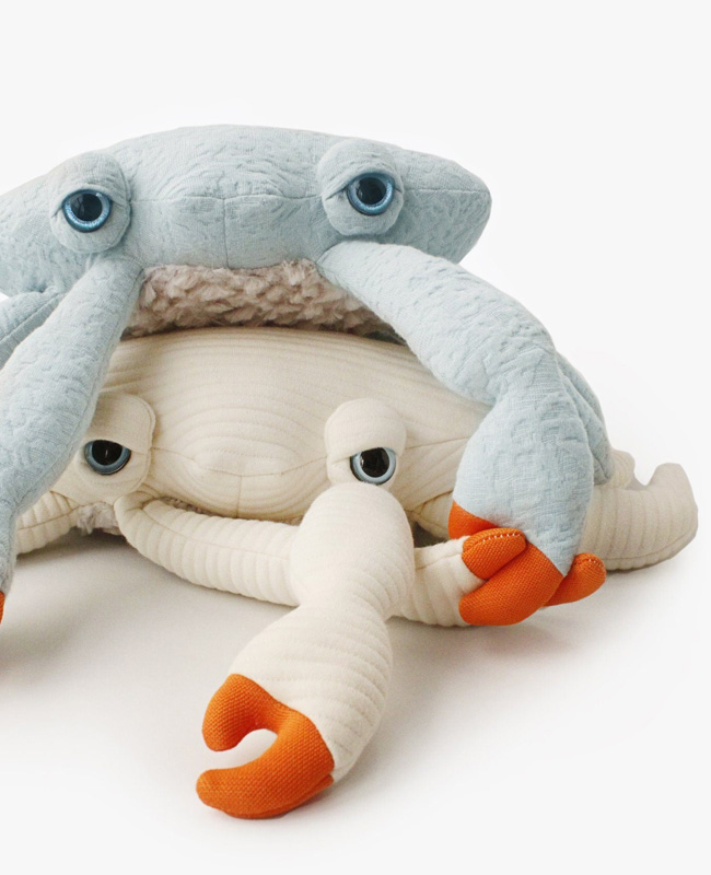 etsy big stuffed peluche mini crabe
