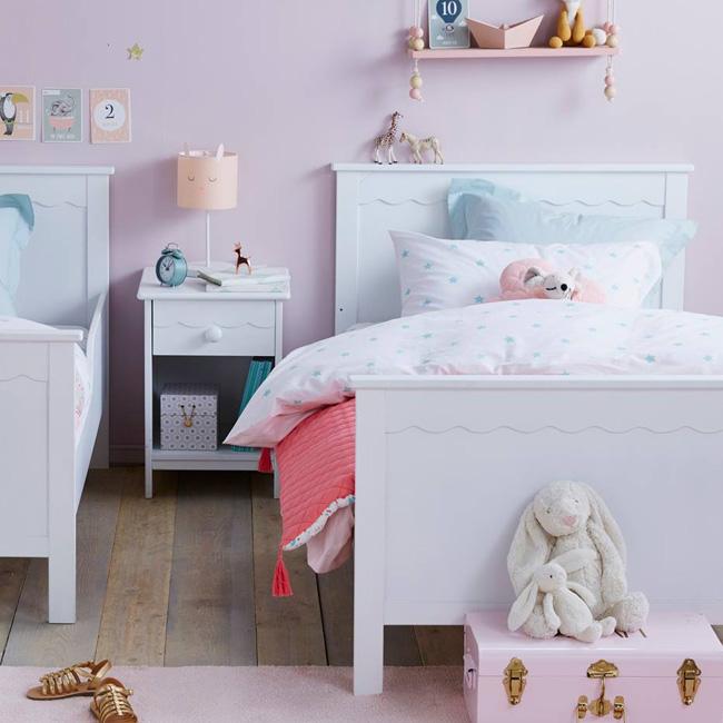 lit enfant campagne blanc