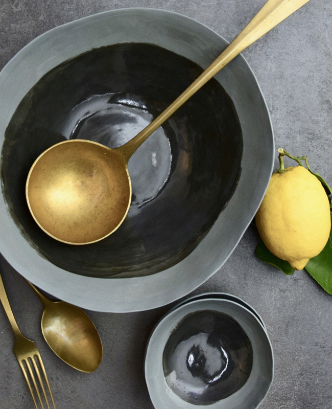 porcelaine dodici sessanta etsy bol gris noir