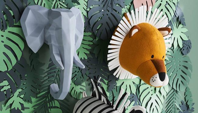 trophée mural jungle urbaine enfant