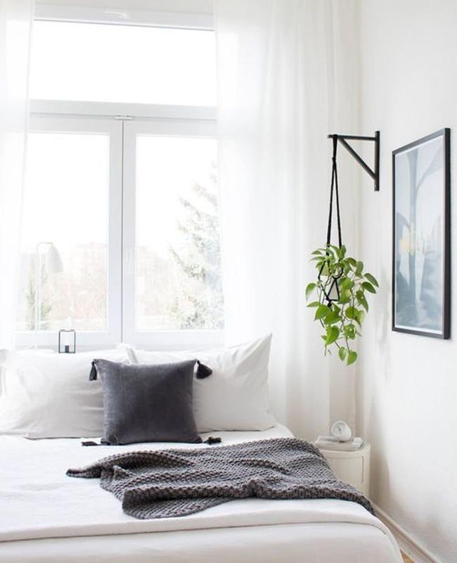 deco chambre minimaliste blanc