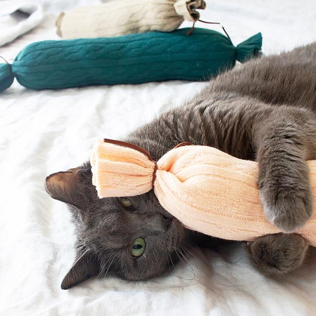 jouet chat diy chaussette