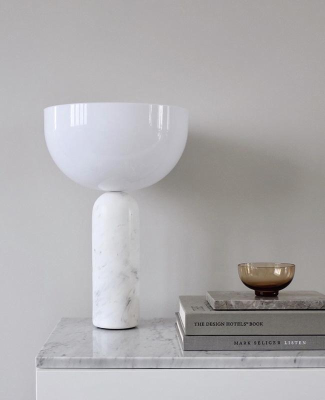 visite deco minimaliste lampe marbre