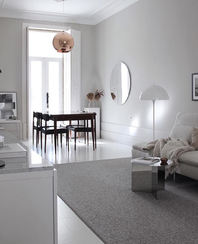 visite deco minimaliste sejour vintage