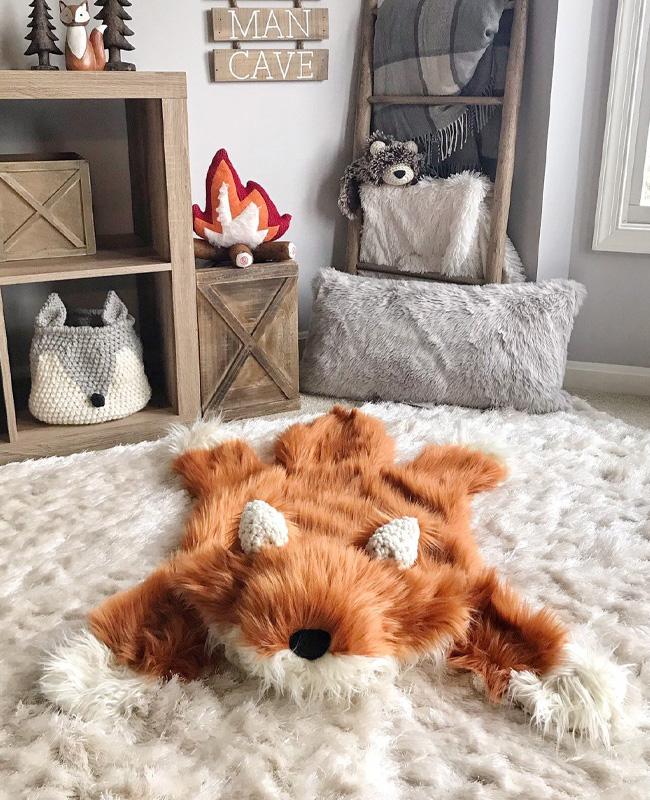 etsy clara loo accessoire déco enfant tapis couverture renard