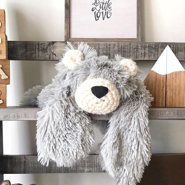 etsy clara loo accessoire déco enfant tapis ours