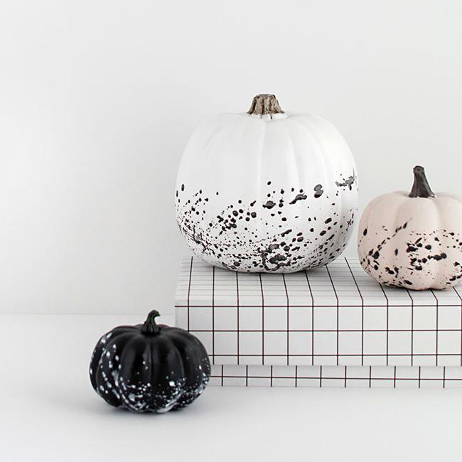 citrouille peinture halloween diy minimaliste