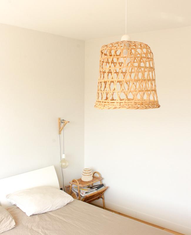 deco éclectique cocooning chambre suspension naturelle