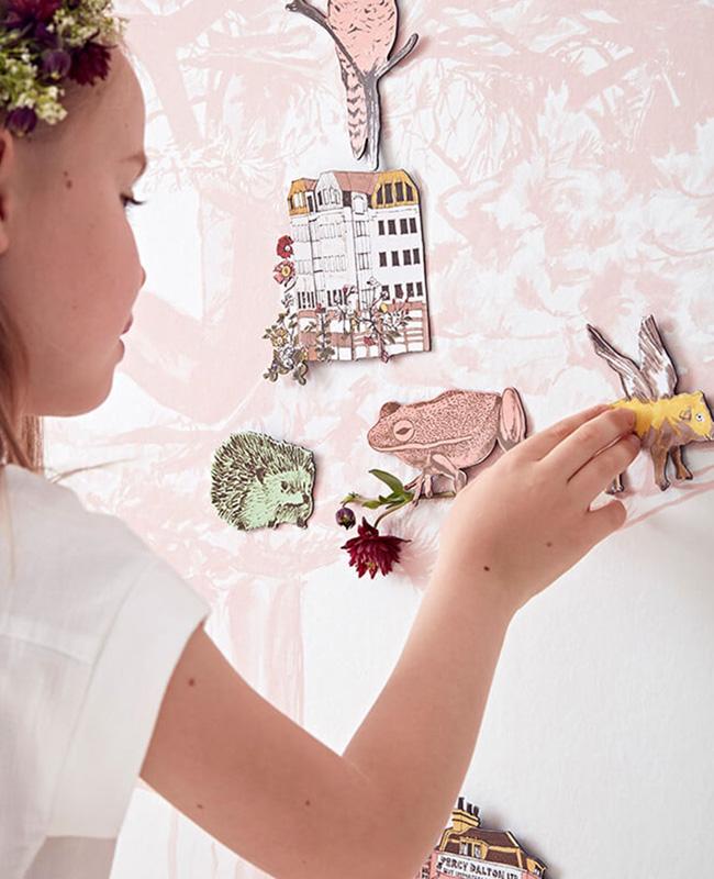 papier peint aimanté magnétique sian zeng etsy arbre rose