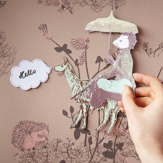 papier peint aimanté magnétique sian zeng etsy forêt rose