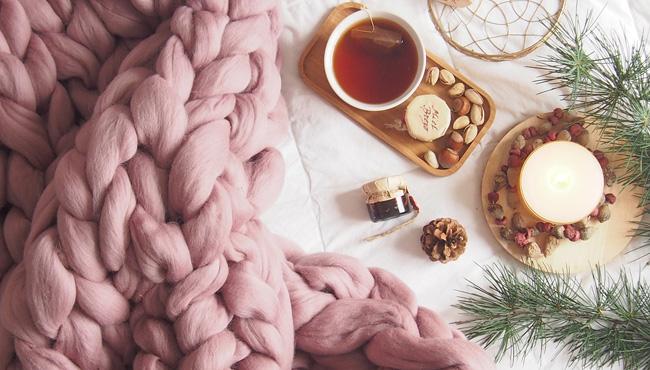 plaid tricot géant laine xxl