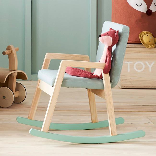 promo vert baudet fauteuil bascule vert