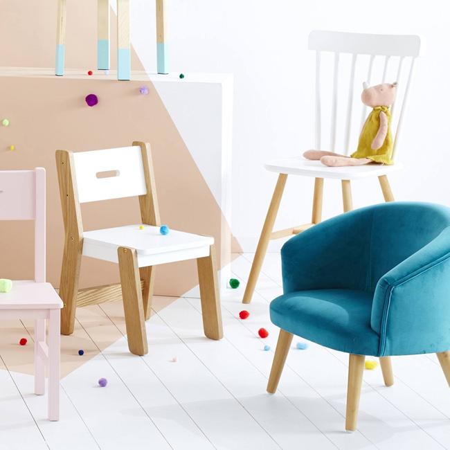 promo vert baudet fauteuil velours bleu