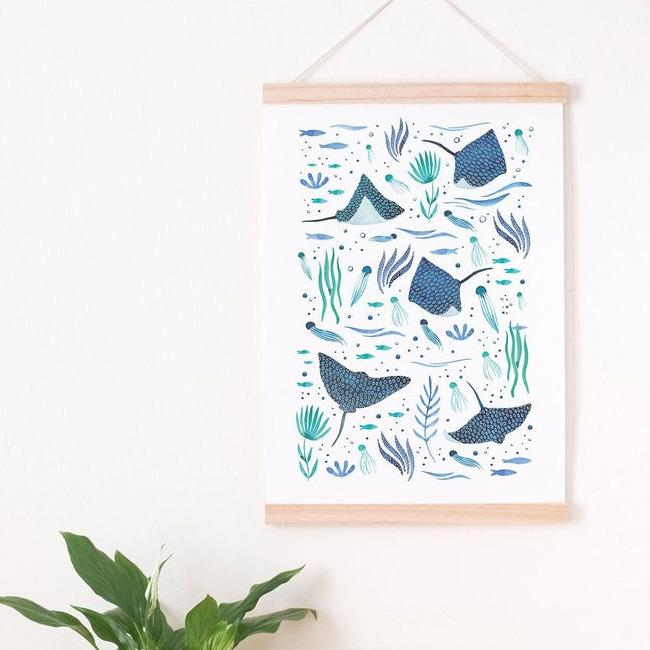 etsy affiche illustration ouederni océan