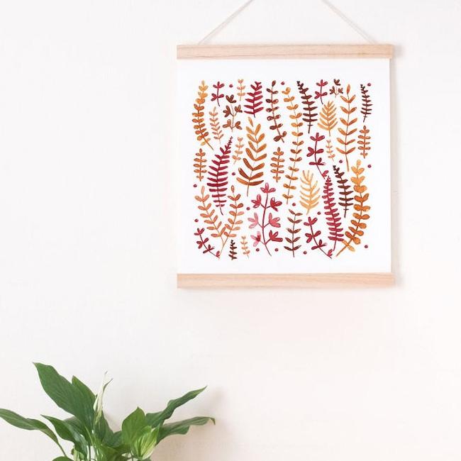 etsy affiche illustration ouederni botanique