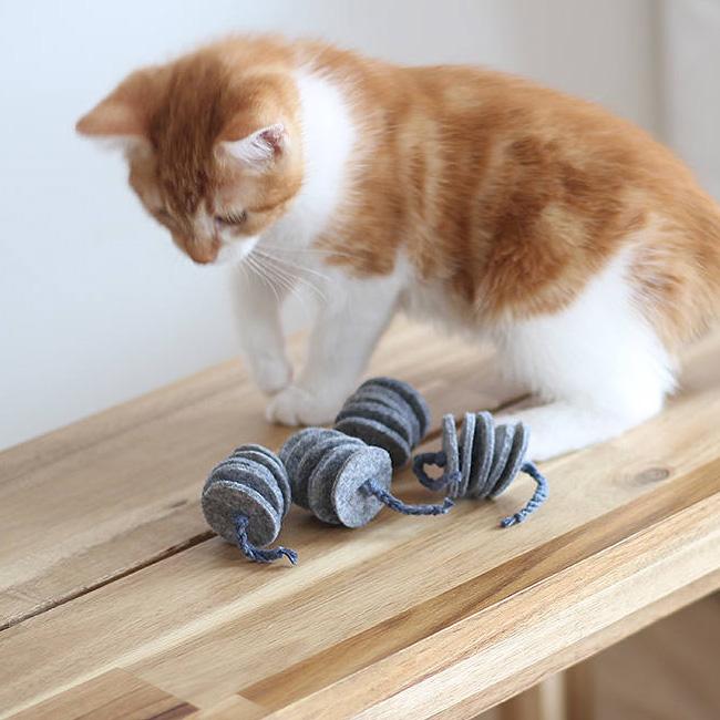 cadeau noel chat etsy jouet feutrine