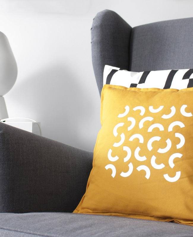 coussin motif modern diy cricut