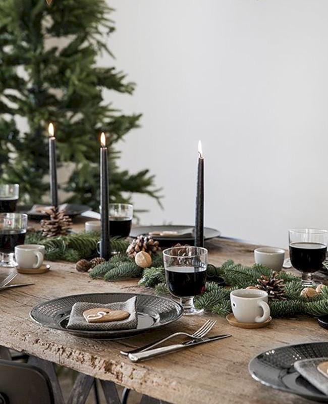 deco table noel bois rustique moderne